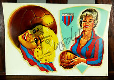 Calcio CATANIA  Decalcomania d' epoca originale - decalcoplastica -