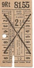Bell Punch Ticket - Birmingham Corporation Tramway and Omnibus Department - 2½d.