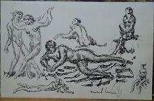 Marcel LENOIR (1872-1931) encre sur papier nus féminins P1458