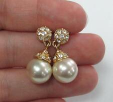 Gold Tone Imitation Pearl Earrings (14k Gold Posts Only) ~ 12-B8924