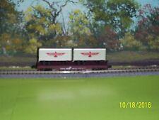 ATLAS N SCALE TRAINMAN #37532 PIGGYBACK FLAT CAR w/TRLRS APL/CR #705125