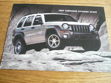 JEEP CHEROKEE  EXTREME SPORT  2.8 CRD AND 3.7 V6 SALES 'BROCHURE' SHEET 2003?