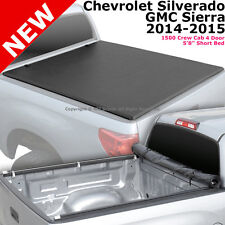 For Silverado Sierra 1500 14-15 Crew Cab 5.8 ft Bed Roll-Up Soft Tonneau Cover