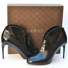 GUCCI New sz 38.5 - 8.5 Womens Authentic Black Designer Ankle Heels Shoes Boots