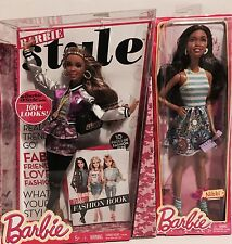 Barbie Style Nikki Glam Luxe African American Articulated Dolls Wave 2 Lot of 2