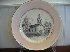 1955 Homer Laughlin Georgian Methodist Church Drakestown New Jersey Plate