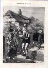 1872 Derby Day Road To Epsom Thirsty Toddler Drum Thatched House