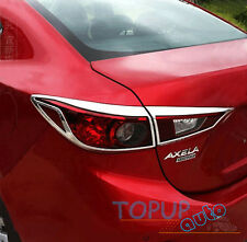 FIT FOR 14- MAZDA 3 SEDAN CHROME REAR TAIL LIGHT LAMP COVER TRIM BEZEL GARNISH