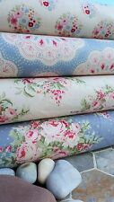 Tilda Sweet Heart Tela 4PS Bundle Quilting Rose Flores Azul Rojo Paloma Blanca
