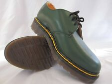 Vintage Dr. Doc Martens Youth Women's Green Gibson Shoe UK 3 MADE IN ENGLAND
