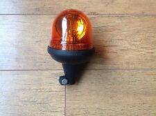 Rotating Flashing Amber Beacon Flexible DIN Pole Mount Tractor Combine Harvester