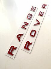 3D Red & Chrome Bonnet Boot Letters Badge for Range Rover Sport 2005 - 2009