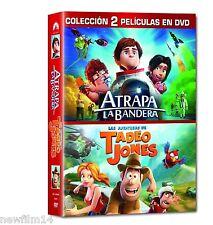 ATRAPA LA BANDERA + TADEO JONES DVD PACK COLECCION 2 PELICULAS NUEVO (SIN ABRIR)