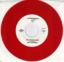 BOY GEORGE  The Crying Game  RED vinyl 45