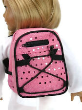 "Pink Backpack with Sequins made for 18"" American Girl Doll Clothes Accessories"
