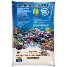 Nature's Ocean 20 lbs Natural White Bio-Activ Live Aragonite Reef Sand marine