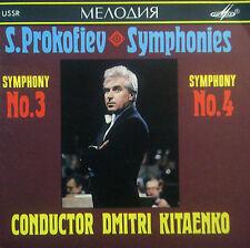 CD PROKOFIEV - symphonies no. 3 & 4, Kitaenko, Melodiya USSR