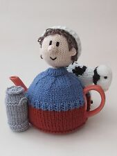 TeaCosyFolk Dairy Farmer Tea Cosy Knitting Pattern - Knit your Own!