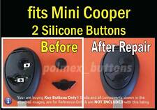 fits Mini Cooper, BMW remote key fob - 2 repair Silicone Buttons (1set)
