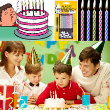 10pcs Magic Relighting Candles Birthday Cake Party Joke Xmas Funny Kids Trick