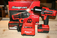 "Snap-on Impact Wrench Kit,  cordless lithium, 1/2"" Drive CT8850 LIKE NEW!!!"