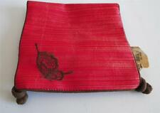 """Pier 1 One Fabric Jewelry Roll Pouch Butterfly Red NWT 12"""" x 6"""""""