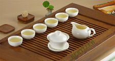 White Jade Porcelain Gongfu Tea Set 8 Pcs * Free Shipping
