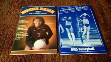NOTRE DAME WOMEN'S VOLLEYBALL 1987 and 1985 MEDIA GUIDES