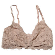 Floral Lace Triangle Bra Rose Lace Bralette PUSH UP Unpadded Bustier Crop Top Cl
