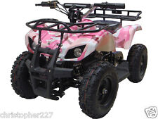 Outdoor Kids Pink Electric Battery 24 V Mini Quad ATV Dirt Motor Bike Sonora V4