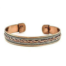 *BEAUTIFUL 2 TONE CELTIC PATTERN COPPER MAGNETIC BRACELET / BANGLE**1**