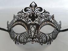 Black Filigree Metal Masquerade Mask No.3 - Express Post Available