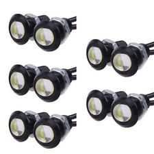 10PZ 9W LED DRL Eagle Eye Auto Luci diurne anabbaglianti Inverso Backup