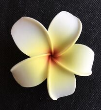 Hawaiian Plumeria Foam Flower Hair CLIP White Yellow Red Wedding Bridal Luau NEW