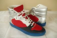 Balenciaga Black Blue Red Leather Hi Top Sneakers 43 10 Silver Shoes Trainers