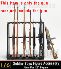 "DRAGON DML 1/6 Toys Model Weapon Wood Storage (10pc)Long Gun Rack Fit 12"" Figure"