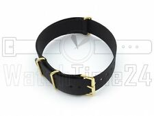 WATCH STRAP NATO NYLON GOLD 18 MM, 20 MM, 22 MM, 24 MM