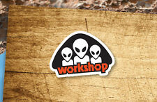 Lot of 2 Pieces Alien Workshop Skateboard Old School Vinyl Stickers Decor