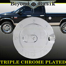 94-08 DODGE RAM 1500 Triple ABS Chrome Fuel Gas Door Cover Cap Overlay Trims ext