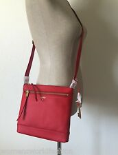 NWT Fossil Real Red Pebble Leather Gift Crossbody Shoulder Bag ZB6683622
