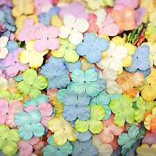 100 Mixed Tone Pastel Hydrangea Flowers mulberry paper for Craft & D.I.Y
