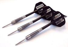 Tungsten Darts Set - 22g Barrels + Nylon Dart Shafts Stems + Pentathlon flights
