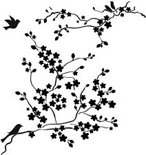 """The Crafter's Workshop Stencil Mini Cherry Blossoms 6""""x6"""" background flowers"""