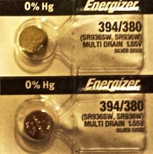 ENERGIZER 394 380 WATCH BATTERIES SR936SW (2Piece) Sealed Authorized Seller