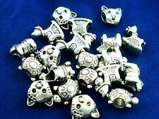 20 x Mixed Tibetan Silver ANIMAL CHARMS BEADS For Silver Charm Bracelets b167
