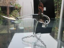VINTAGE MURANO ART GLASS FLYING FISH WITH GOLD FINS AND TAIL