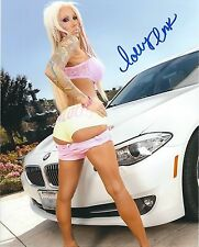 Lolly Ink Adult Film Star Signed 8x10 Photo #133 Desire Films Sticky Evil Angel