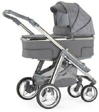 BEBECAR HIP HOP 3 IN 1 PRAM AND PUSHCHAIR STROLLER BRAND NEW GREY WITH CARRYCOT