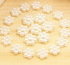 "FLAT BACK PEARLS - IVORY FLOWER SHAPED 1/2"" X 1/2"" X 1/8"" THICK 20 PACK"