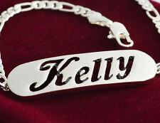 18k Plaqué Argent Nom Bracelet - KELLY - Bijoux Pour les Femmes Mère Amour